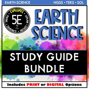 Bundle Cover 300x300 - EARTH SCIENCE STUDY GUIDE BUNDLE - 5E / DISTANCE LEARNING