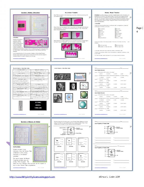 Demo Atoms and Periodic Table Page 4 600x776 - Atoms and the Periodic Table
