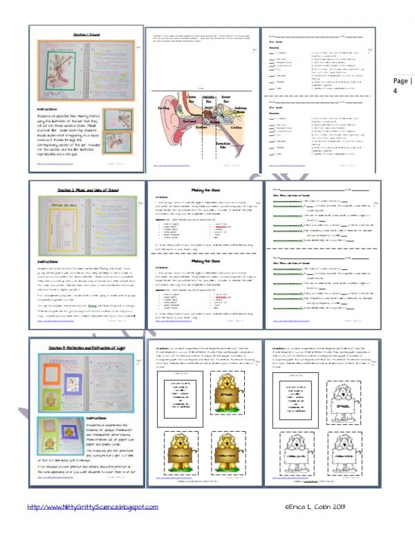 Demo Sound Light Mirrors and Lenses Page 4 1 600x776 - Physical Science Interactive Notebook - The Complete Bundle for an Entire Year