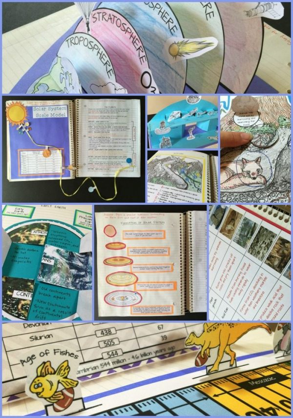 EArth Science Collage 600x857 - Earth Science Interactive Notebook: The Complete Bundle for an Entire Year