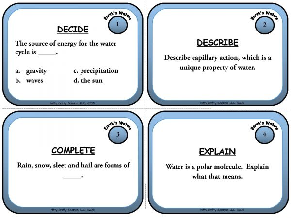 Earths Waters Page 03 Copy 600x450 - Earth's Waters: Earth Science Task Cards