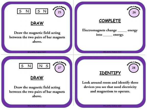 Electricity and Magnetism Page 09 600x450 - Electricity and Magnetism: Physical Science Task Cards