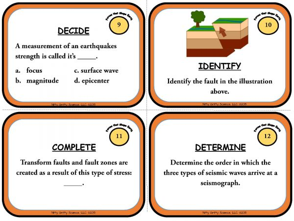 Forces that Shape the Earth Page 05 600x450 - Forces that Shape the Earth: Earth Science Task Cards