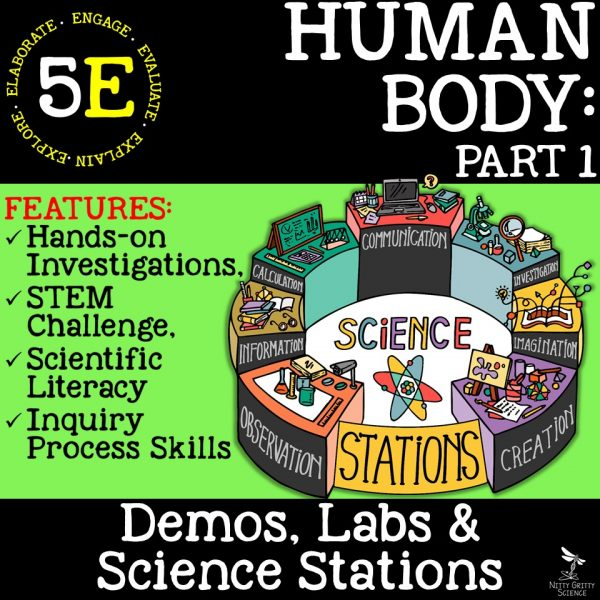 Human Body Part 1 600x600 - HUMAN BODY Part 1 - Demos, Labs and Science Stations