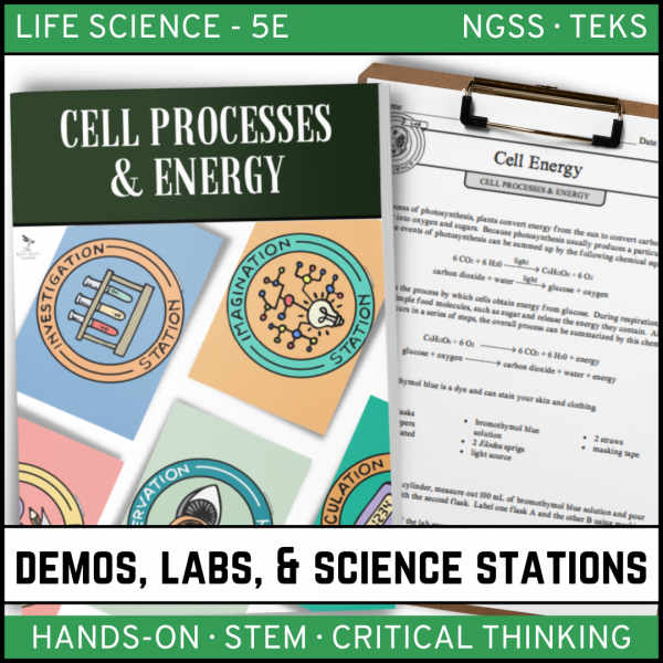 Intro to Earth Science 10 600x600 - CELLS: STRUCTURE AND FUNCTION - Demos, Lab & Science Stations