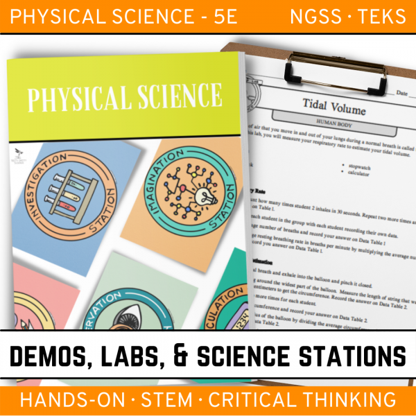 Intro to Earth Science 12 4 600x600 - PHYSICAL SCIENCE Demos, Labs & Science Stations BUNDLE