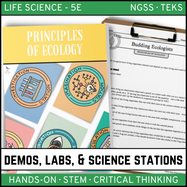 Intro to Earth Science 13 600x600 - PRINCIPLES OF ECOLOGY - Demo, Lab and Science Stations
