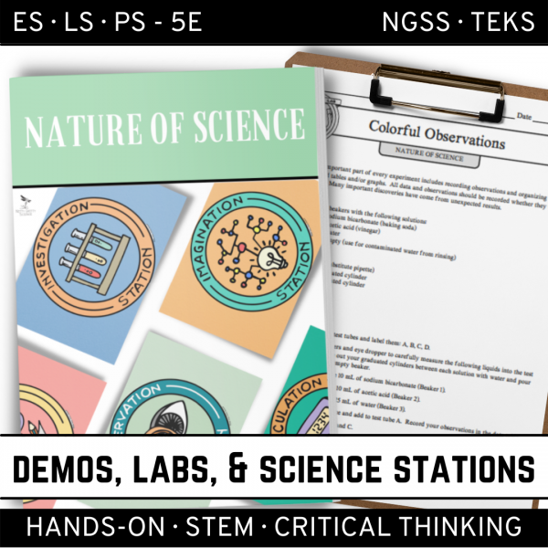Intro to Earth Science 19 600x600 - NATURE OF SCIENCE - Demo, Lab & Science Stations ~ 5E Inquiry