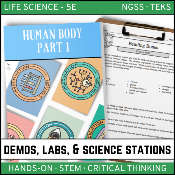 Intro to Earth Science 2 600x600 - HUMAN BODY Part 1 - Demos, Labs and Science Stations