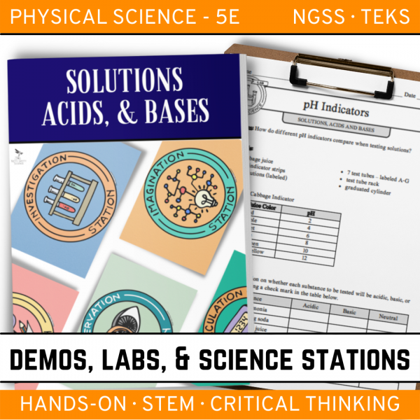 Intro to Earth Science 4 4 600x600 - SOLUTIONS, ACIDS & BASES - Demos, Labs and Science Stations