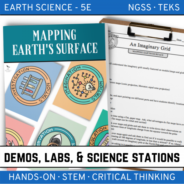 Intro to Earth Science 5 2 600x600 - MAPPING EARTH'S SURFACE - Demos, Lab and Science Stations