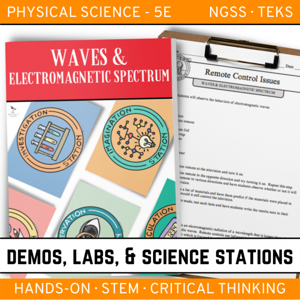 Intro to Earth Science 5 4 600x600 - WAVES AND THE ELECTROMAGNETIC SPECTRUM - Demos, Labs and Science Stations