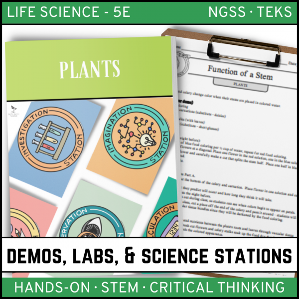 Intro to Earth Science 6 600x600 - Plants: Demos, Labs and Science Stations ~ 5E Inquiry