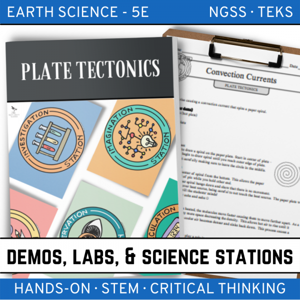 Intro to Earth Science 7 2 600x600 - PLATE TECTONICS - Demo, Lab & Science Stations