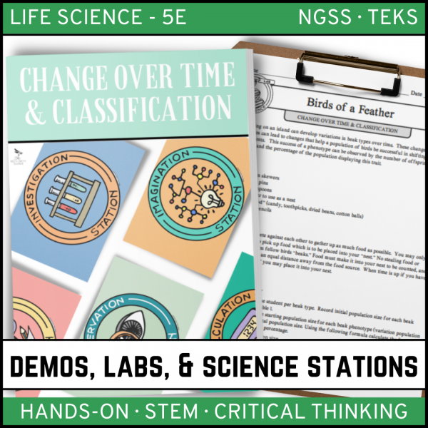 Intro to Earth Science 7 600x600 - CHANGE OVER TIME & CLASSIFICATION - Demos, Labs and Science Stations
