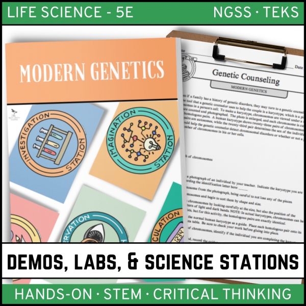 Intro to Earth Science 8 600x600 - MODERN GENETICS - Demos, Labs and Science Stations