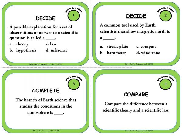 Intro to Earth Science Page 03 600x450 - Intro to Earth Science: Earth Science Task Cards