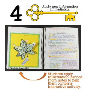 Key 4a 283x300 - Keys to a Successful Science Interactive Notebook