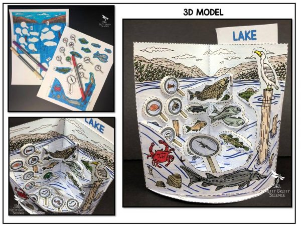 Lake Preview 1 600x450 - Lake Biome Model - 3D Model - Biome Project
