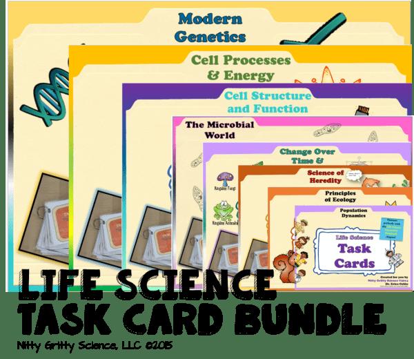 Life Science Task Card Bundle 600x520 - Life Science Curriculum – Ultimate Bundle v 2.0 ~ NO LABS