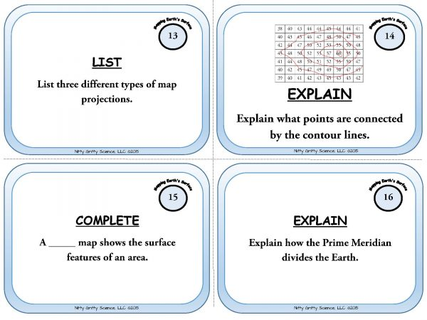 Mapping Earths Surface Page 06 600x450 - Mapping Earth's Surface: Earth Science Task Cards