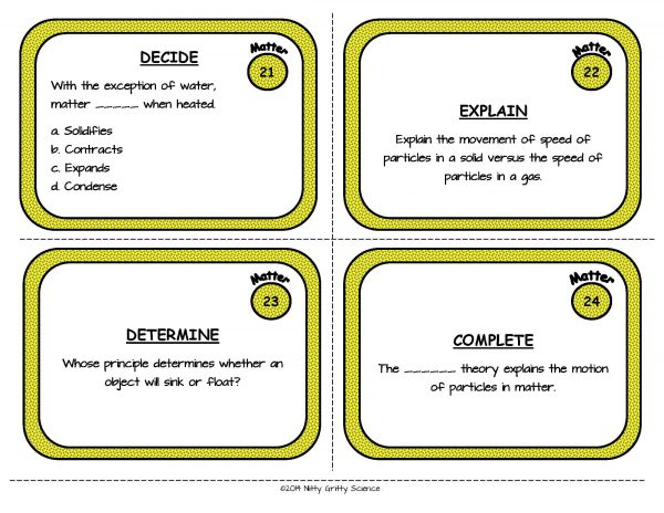 Matter Page 08 600x464 - Matter: Physical Science Task Cards