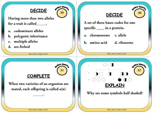 Modern Genetics Page 10 600x450 - Modern Genetics - Life Science Task Cards