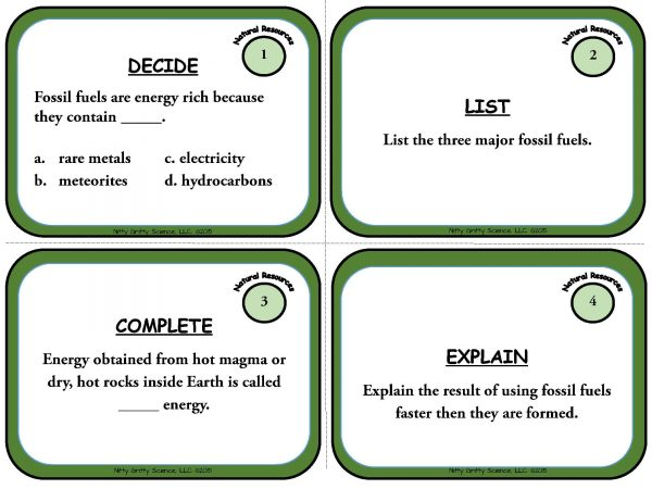 Natural Resources Page 03 600x450 - Natural Resources: Earth Science Task Cards