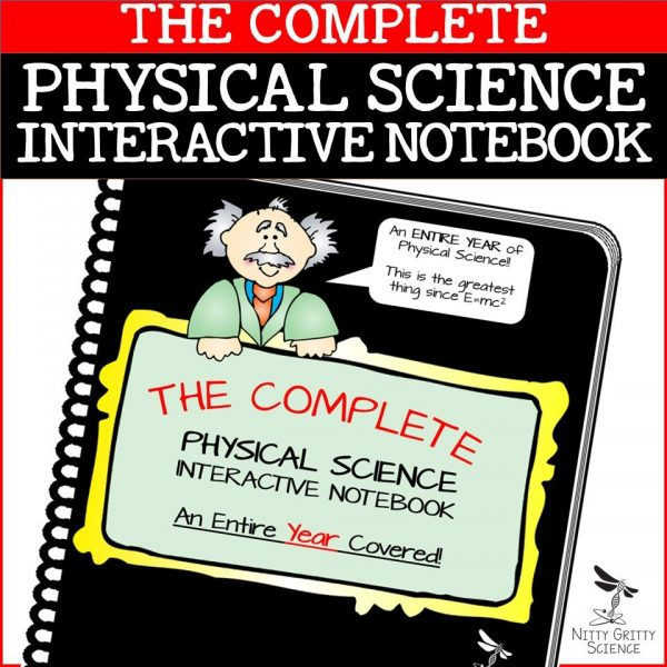 PS COMPLETE 1 600x600 - Physical Science Interactive Notebook - The Complete Bundle for an Entire Year