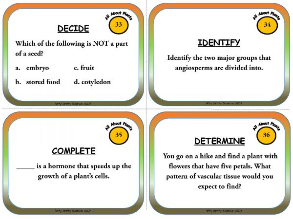Plants Page 11 600x450 - Plants - Life Science Task Cards