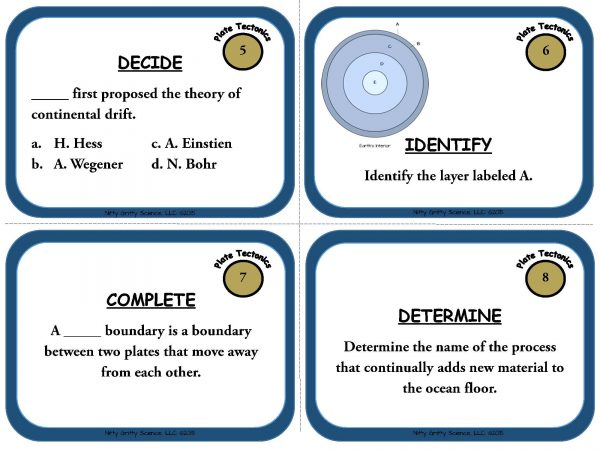 Plate Tectonics Page 04 600x450 - Plate Tectonics: Earth Science Task Cards