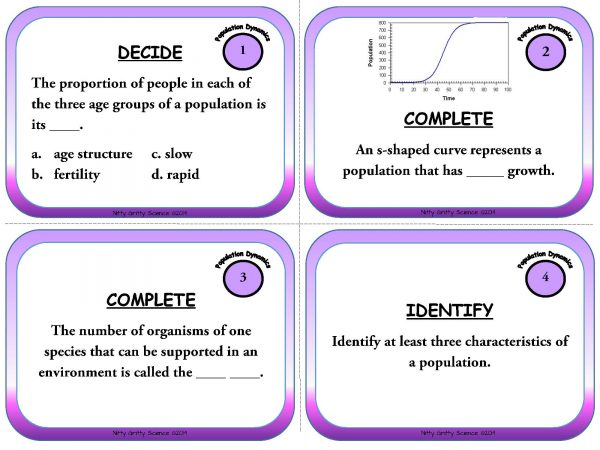 Population Dynamics Page 03 600x450 - Population Dynamics: Life Science Task Cards