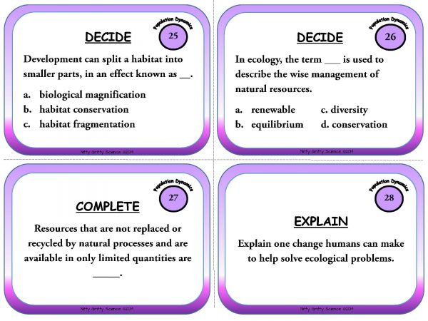 Population Dynamics Page 09 600x450 - Population Dynamics: Life Science Task Cards