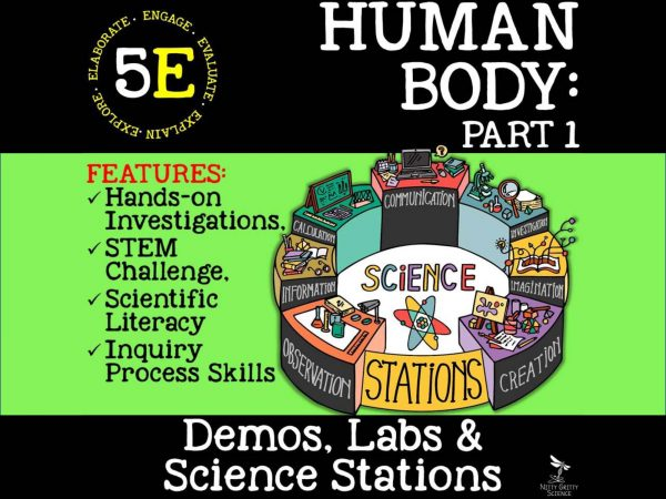 Preview Human Body Part 1 Page 01 600x450 - LIFE SCIENCE Demos, Labs & Science Stations BUNDLE