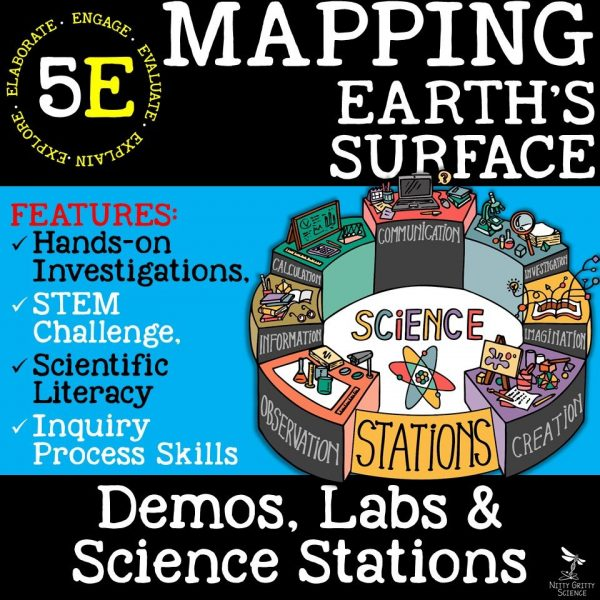Preview Mapping Earths Surface Page 1 600x600 - MAPPING EARTH'S SURFACE - Demos, Lab and Science Stations