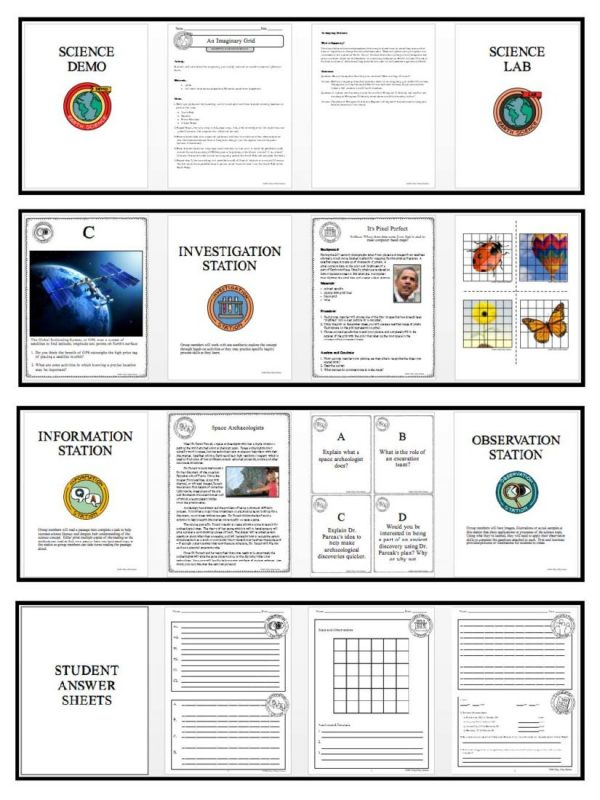 Preview Mapping Earths Surface Page 4 600x800 - MAPPING EARTH'S SURFACE - Demos, Lab and Science Stations