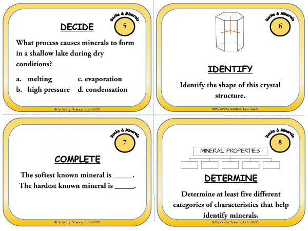 Rocks and Minerals Page 04 600x450 - Rocks and Minerals: Earth Science Task Cards