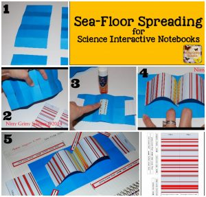 Sea Floor Spreading 300x287 - Plate Tectonics and Sea Floor Spreading for Science Interactive Notebooks