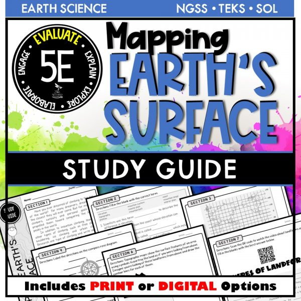Slide1 10 600x600 - EARTH SCIENCE STUDY GUIDE BUNDLE - 5E / DISTANCE LEARNING