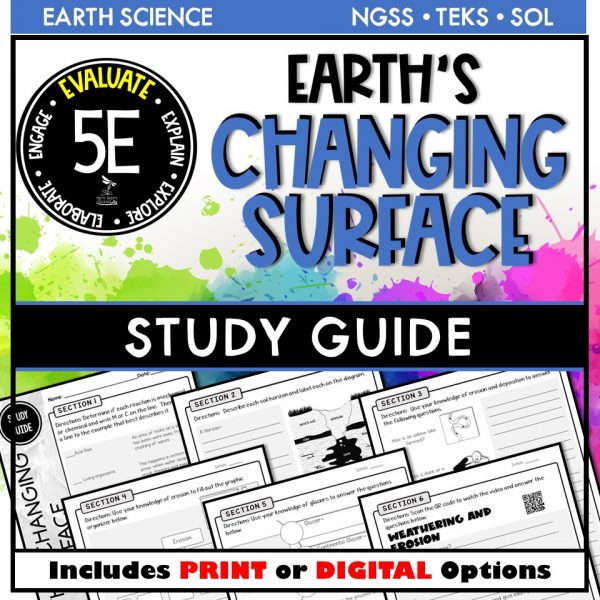 Slide1 9 600x600 - EARTH SCIENCE STUDY GUIDE BUNDLE - 5E / DISTANCE LEARNING