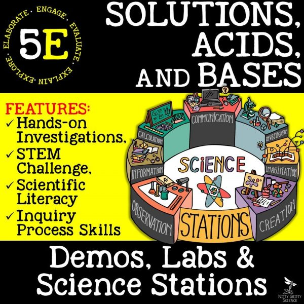 Solutions Acids and Bases 600x600 - SOLUTIONS, ACIDS & BASES - Demos, Labs and Science Stations