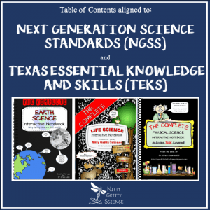 TOC 300x300 - Science Interactive Notebooks - Table of Contents aligned to NGSS and TEKS