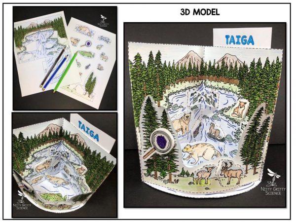 Taiga Preview 1 600x450 - Taiga Biome Model - 3D Model - Biome Project