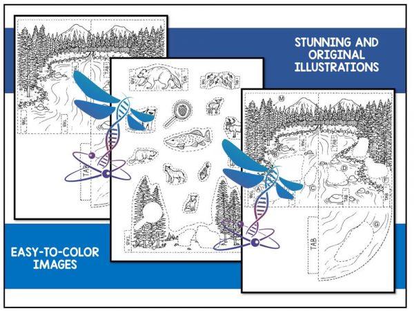 Taiga Preview 2 600x450 - Taiga Biome Model - 3D Model - Biome Project