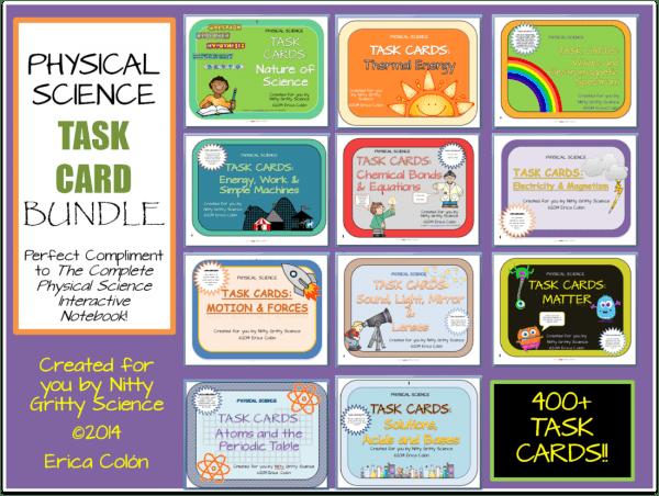 Task Card Bundle 1 600x452 - PHYSICAL SCIENCE CURRICULUM - 5 E Model