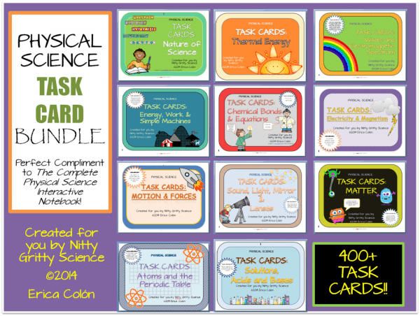 Task Card Bundle 600x452 - Physical Science Curriculum – Ultimate Bundle v 2.0 ~ NO LABS