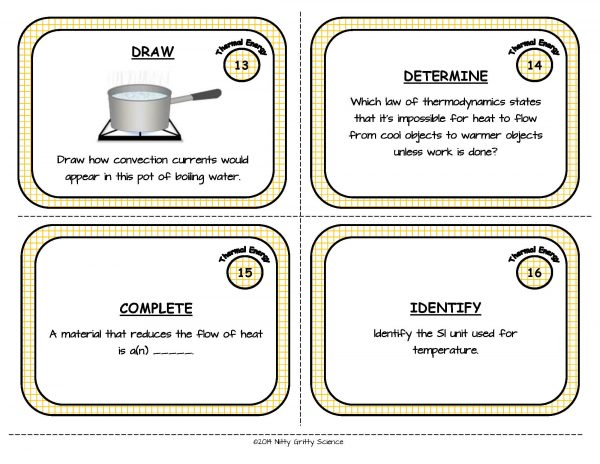 Thermal Energy Page 06 600x464 - Physical Science Task Card Bundle - 400+ task cards!