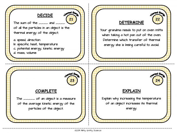 Thermal Energy Page 08 600x464 - Thermal Energy: Physical Science Task Cards