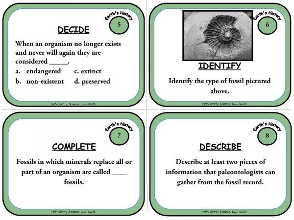 Trip Through Earths History Page 04 600x450 - A Trip Through Earth's History: Earth Science Task Cards