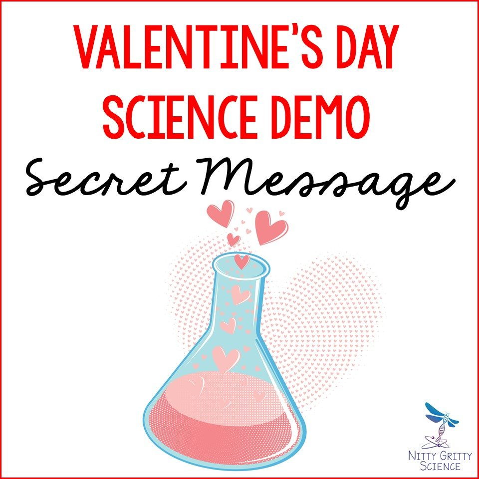 Valentines Day Demo Secret Message - SCIENCE-THEMED VALENTINE'S DAY